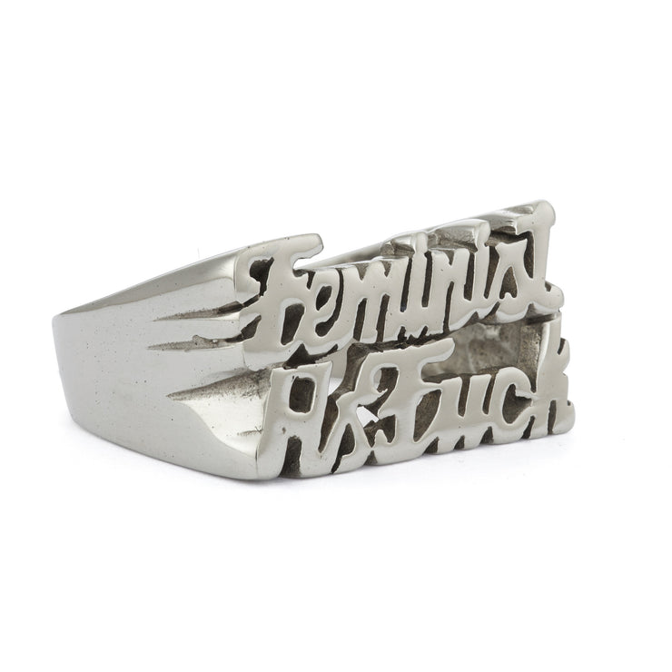 Feminist as Fuck Ring - SNASH JEWELRY