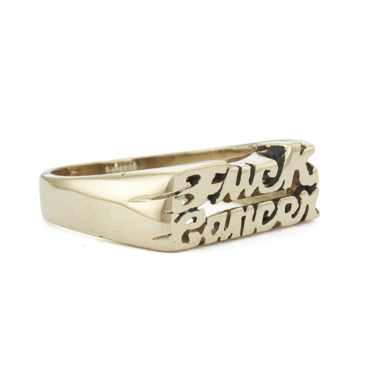 Fuck Cancer Ring - SNASH JEWELRY