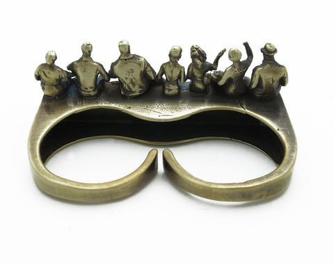 Iron Workers Double Finger Ring