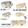 Custom One-Line Nameplate Ring