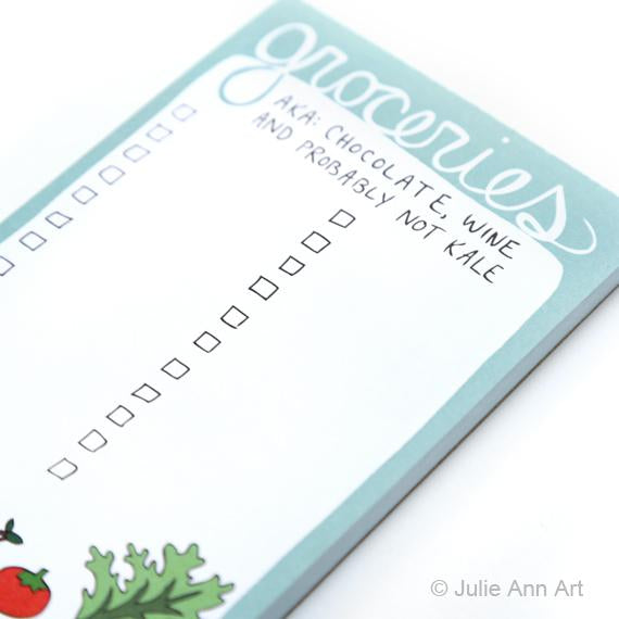 Groceries Notepad - SNASH JEWELRY