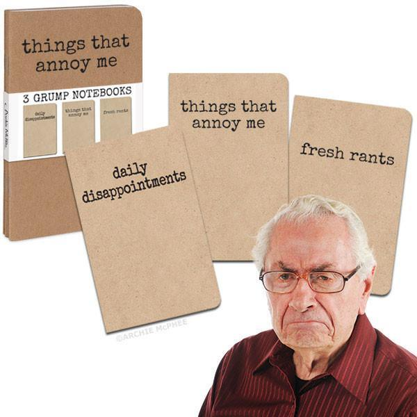 Grump Notebooks - Set of 3 - SNASH JEWELRY