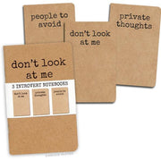 Introvert Notebooks - Set of 3 - SNASH JEWELRY