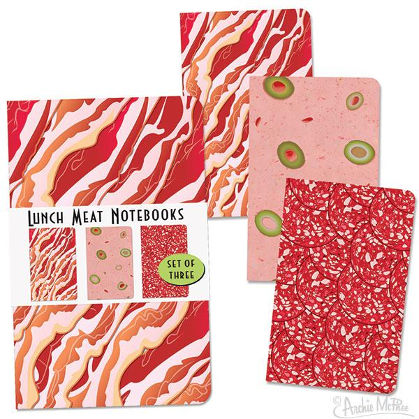 Lunch Meat Notebooks - Set of 3