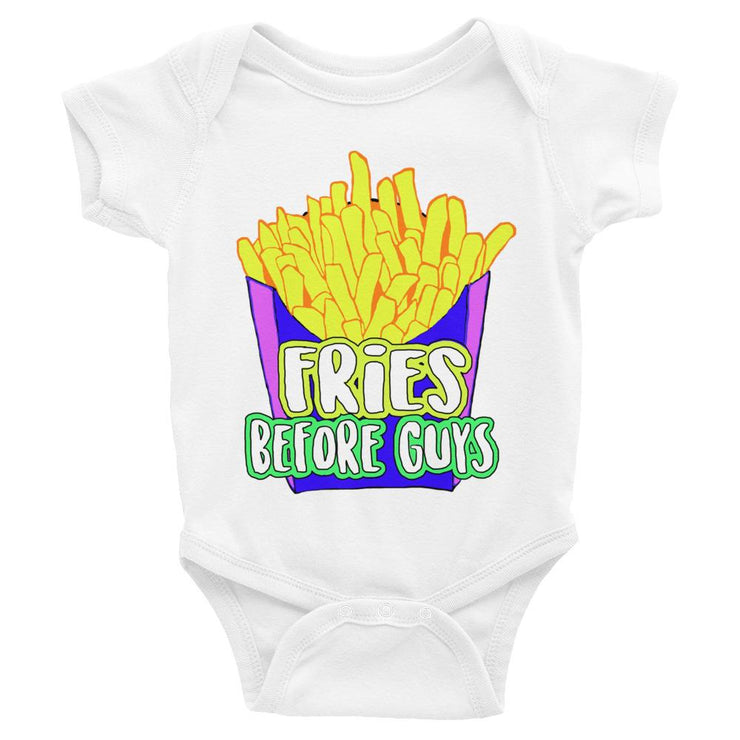 Fries Before Guys! Infant Bodysuit - SNASH JEWELRY