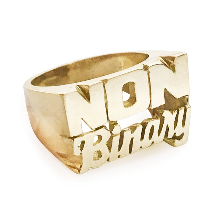 Non Binary Ring - SNASH JEWELRY