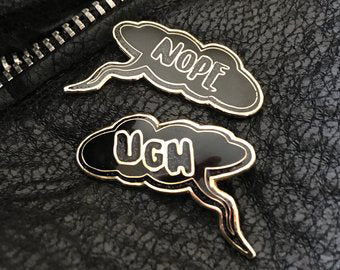 Ugh / Nope Pin Set