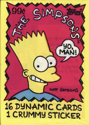 Simpsons Trading Card / Sticker Pack - SNASH JEWELRY