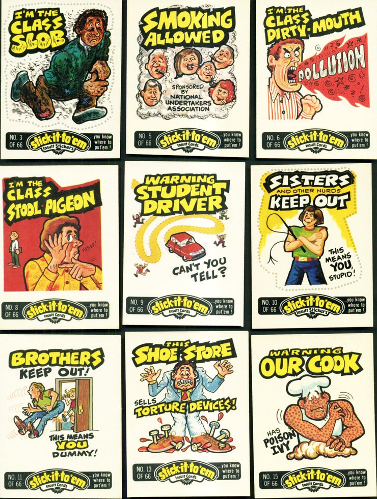 Stick It To Em' Trading Card / Sticker Pack