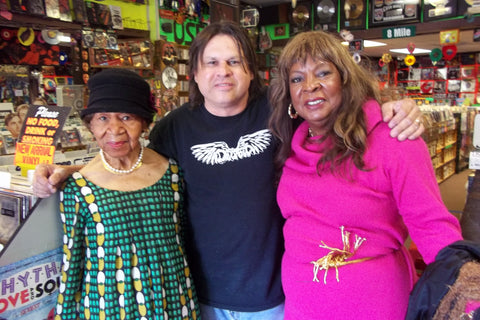 Maxine Powell (Motown) Gary,Martha Reeves inside the icon Detroit record shop Melodies & Memories