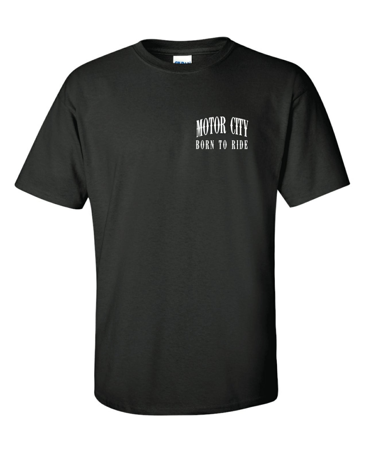 MOTOR CITY BORN TO RIDE BIKER T-SHIRT
