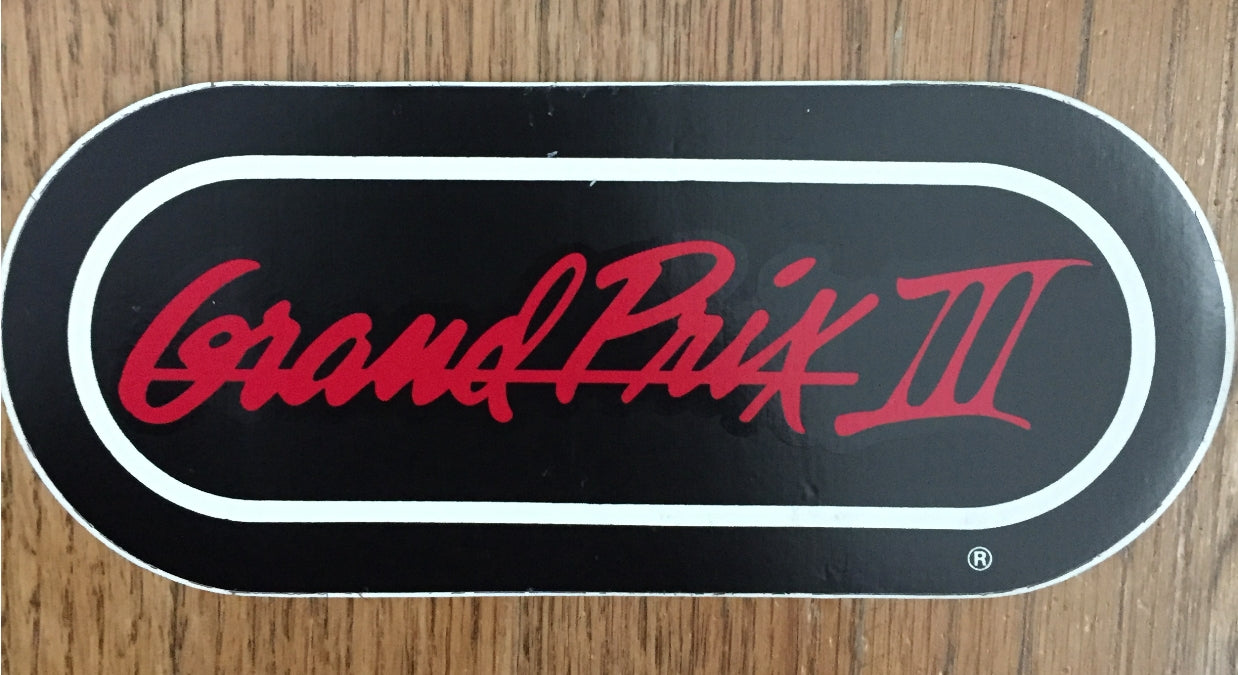 grand prix 3 WRIF vintage sticker
