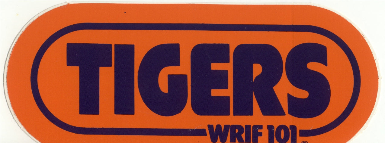 detroit TIGERS orange wrif sticker