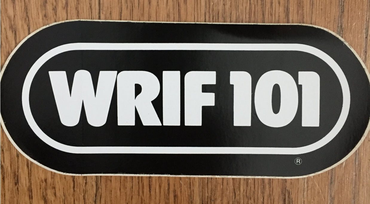 WRIF BLACK vintage sticker