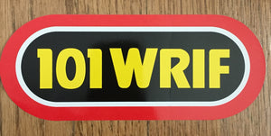 WRIF VINTAGE YELLOW RED STICKER