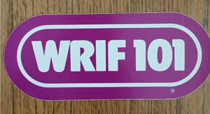 WRIF VINTAGE PURPLE STICKER
