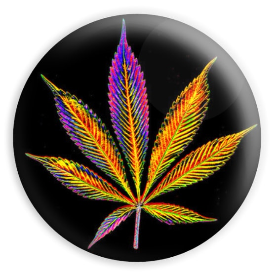cannabis psych leaf sticker