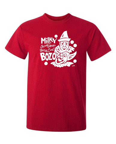 Bozo and Milky The Clown T-Shirt