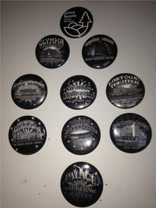 detroit pinback button collection