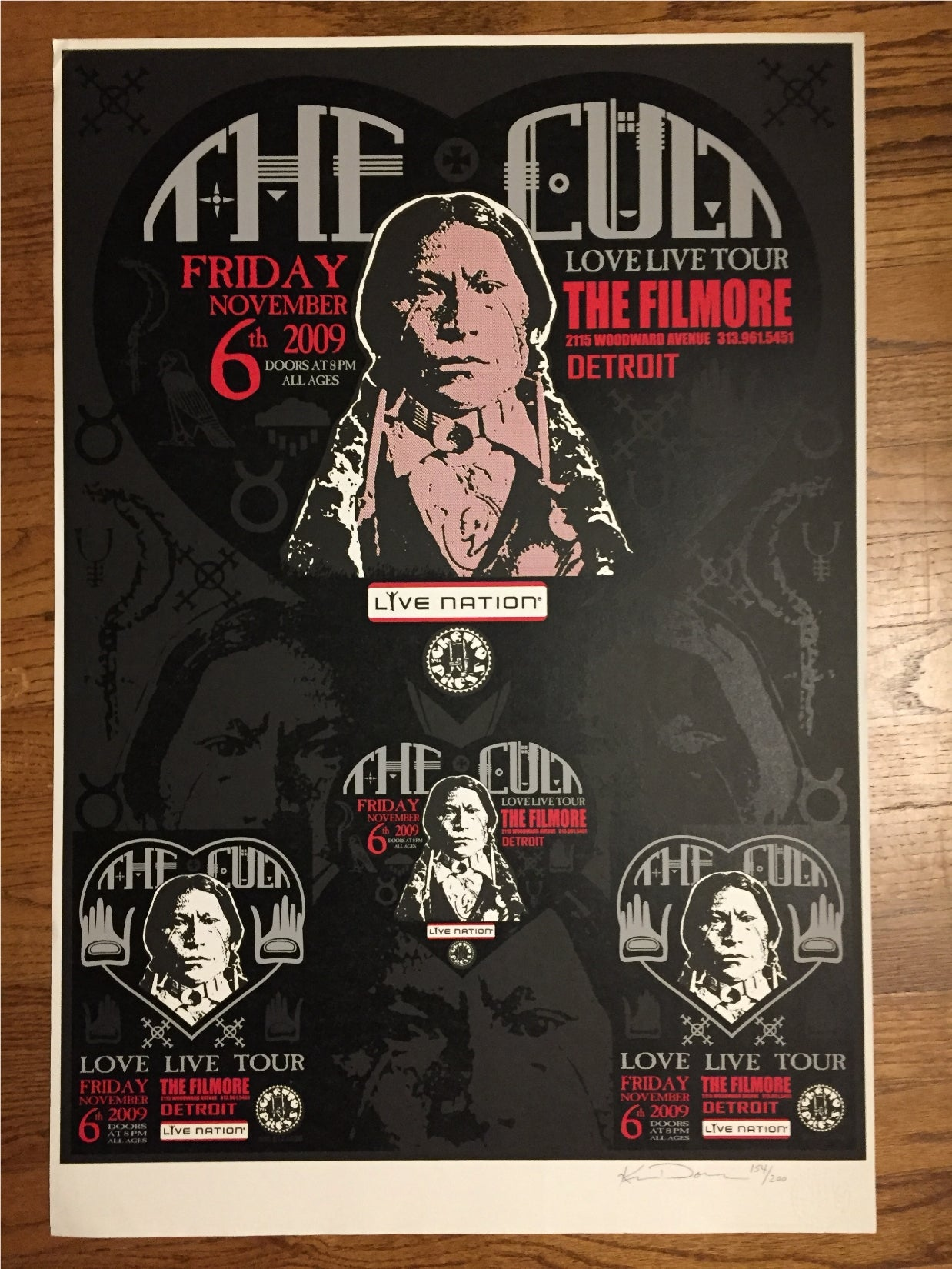 THE CULT DETROIT POSTER
