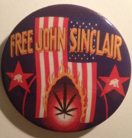 john sinclair John Lennon Freedom Rally magnet or button