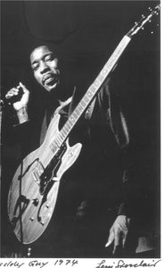 buddy guy leni sinclair greeting card