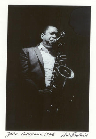 "John Coltrane 5X7"" photo Leni Sinclair hand signed greeting note card 012"