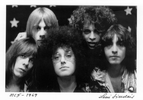 MC5 5 Brothers 5X7 hand signed postcard notecard by Leni Sinclair 017