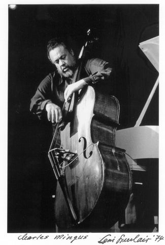 "Charles Mingus 5X7""photo hand signed by Leni Sinclair greeting note card 010"
