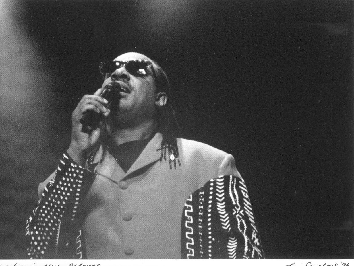 Stevie Wonder In New Orleans Leni Sinclair Photo