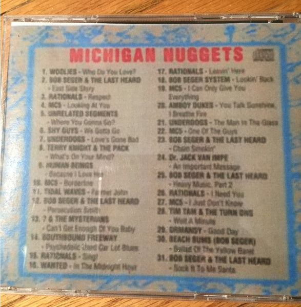 NUGGETS RARE DETROIT/ANN ARBOR CD VERSION