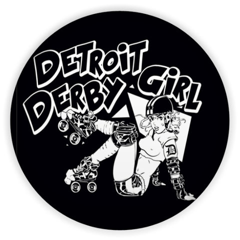 Detroit Derby Girls Pinback 1.5""