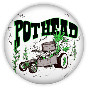 "POTHEAD 2.5"" Magnet and Buttons"