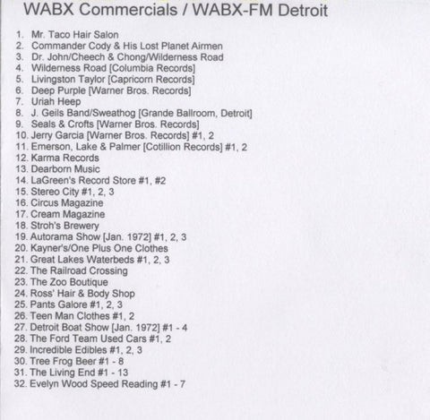 WABX RADIO 2 Commercials