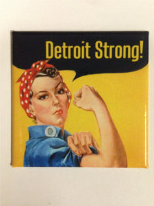 ROSIE THE RIVETER DETROIT MAGNET