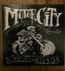 DETROIT BIKER MOTOR CITY STICKER
