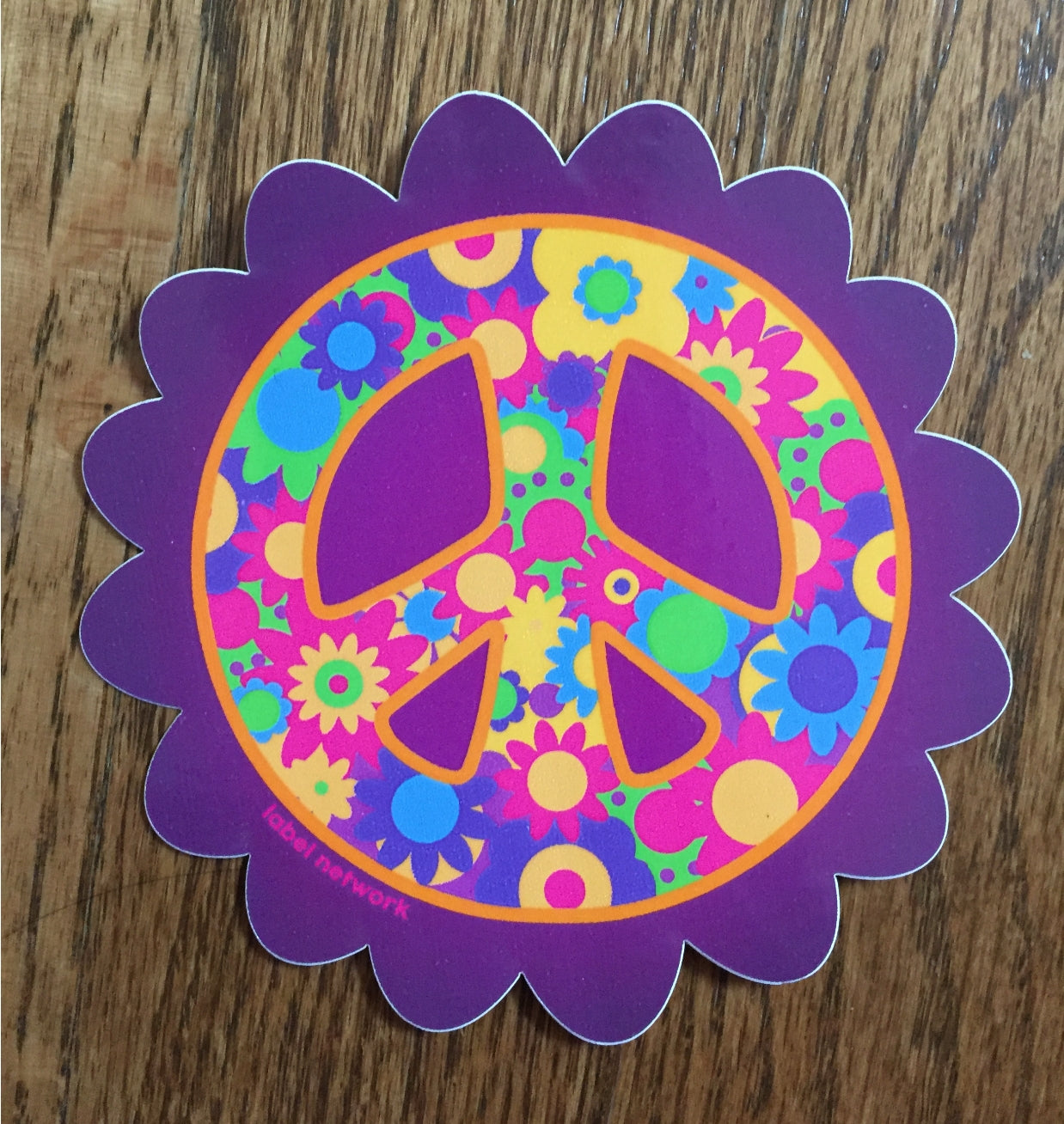 peace flower vinyl sticker