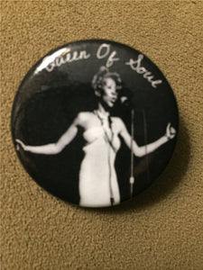 "Aretha Detroit 1.5"" photo button"