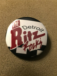 "The Ritz 1.5"" pinback button"