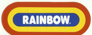 Rainbow WRIF original sticker