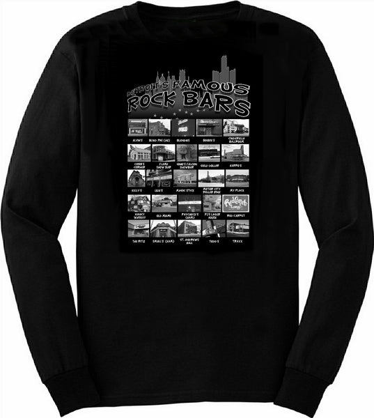 detroit's famous rock bars t shirt