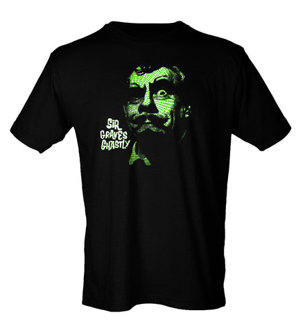 Sir Graves Ghastly T-Shirt|Green Spider Web Horror|Lost In Sound Detroit