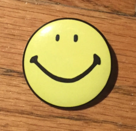 "SMILEY 1.5"" pinback button"