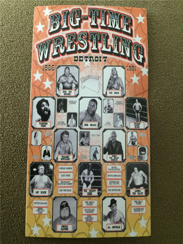 big time wrestling vinyl sticker