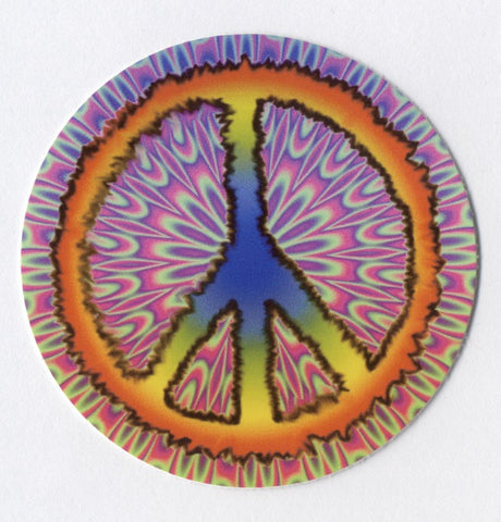 psychedelic peace sign sticker