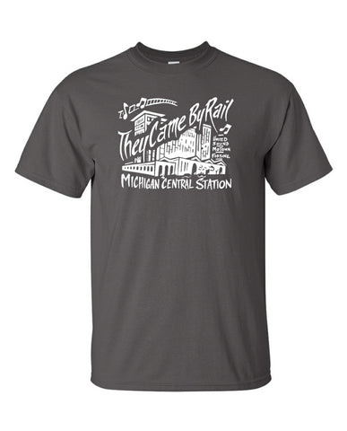 Michigan Central Train Station art T-Shirt historical Detroit