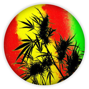 jamaican CANNABIS leaf sticker
