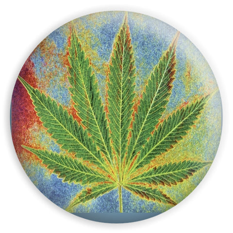 PSYCHEDELIC WEED LEAF STICKER 3""
