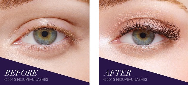 Strip Lashes before an after