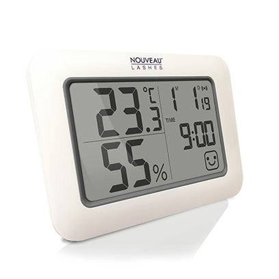 Nouveau Lashes Thermo Hygrometer With Timer